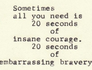 20 secs courage
